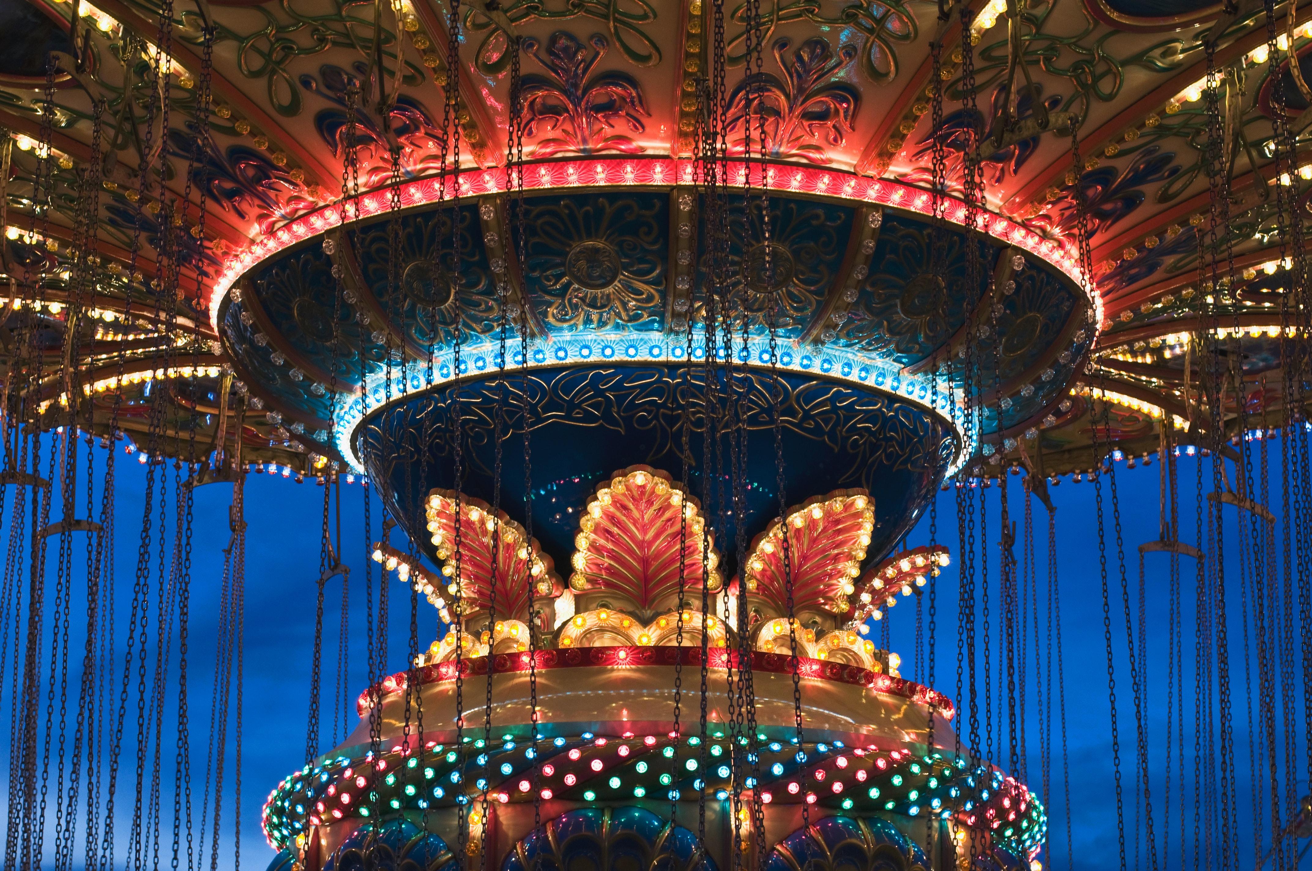amusement park art bright carnival