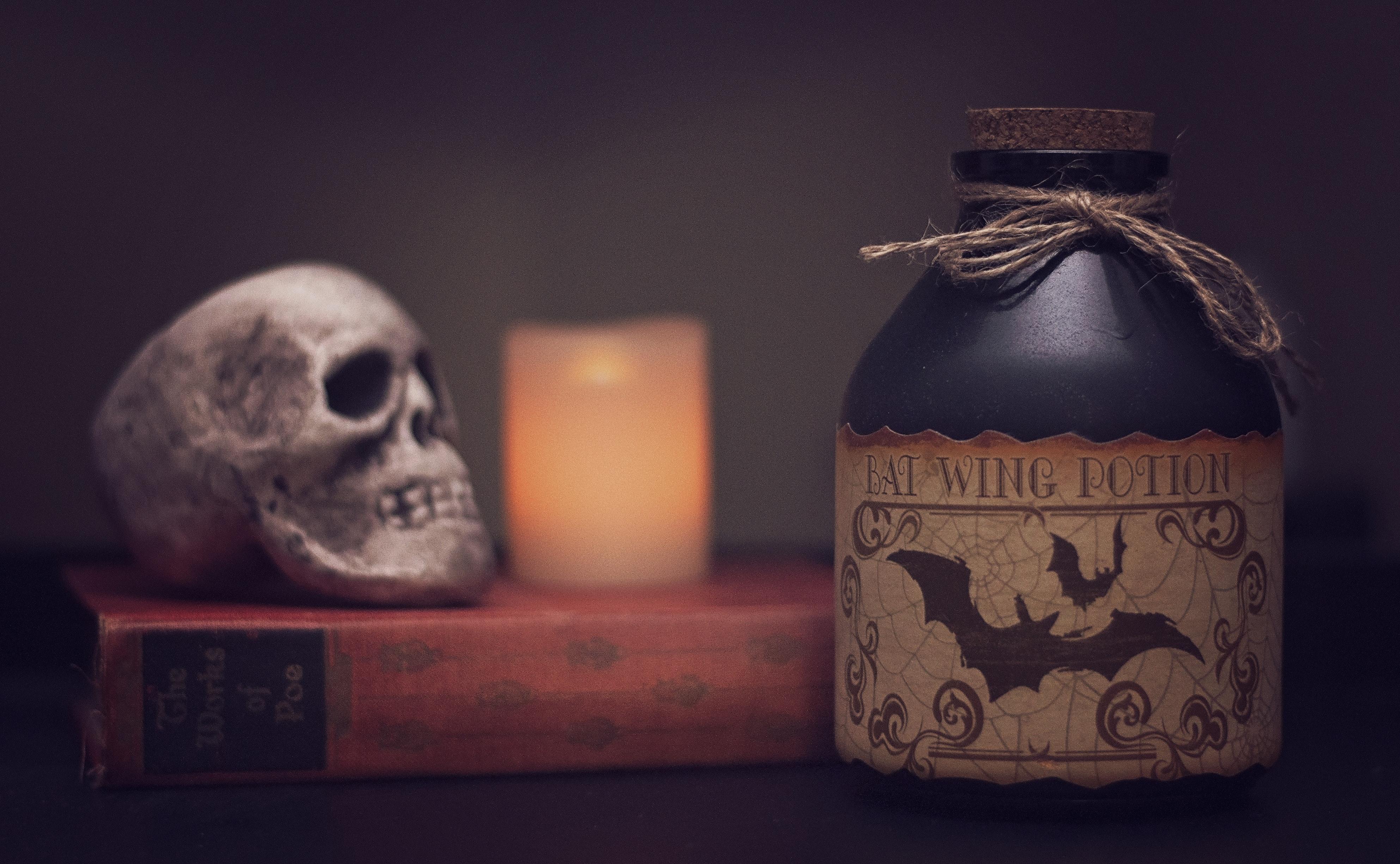 blur book candle close up