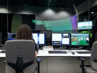 controlling flight simulator