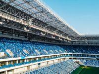 photo of empty seats football stadium