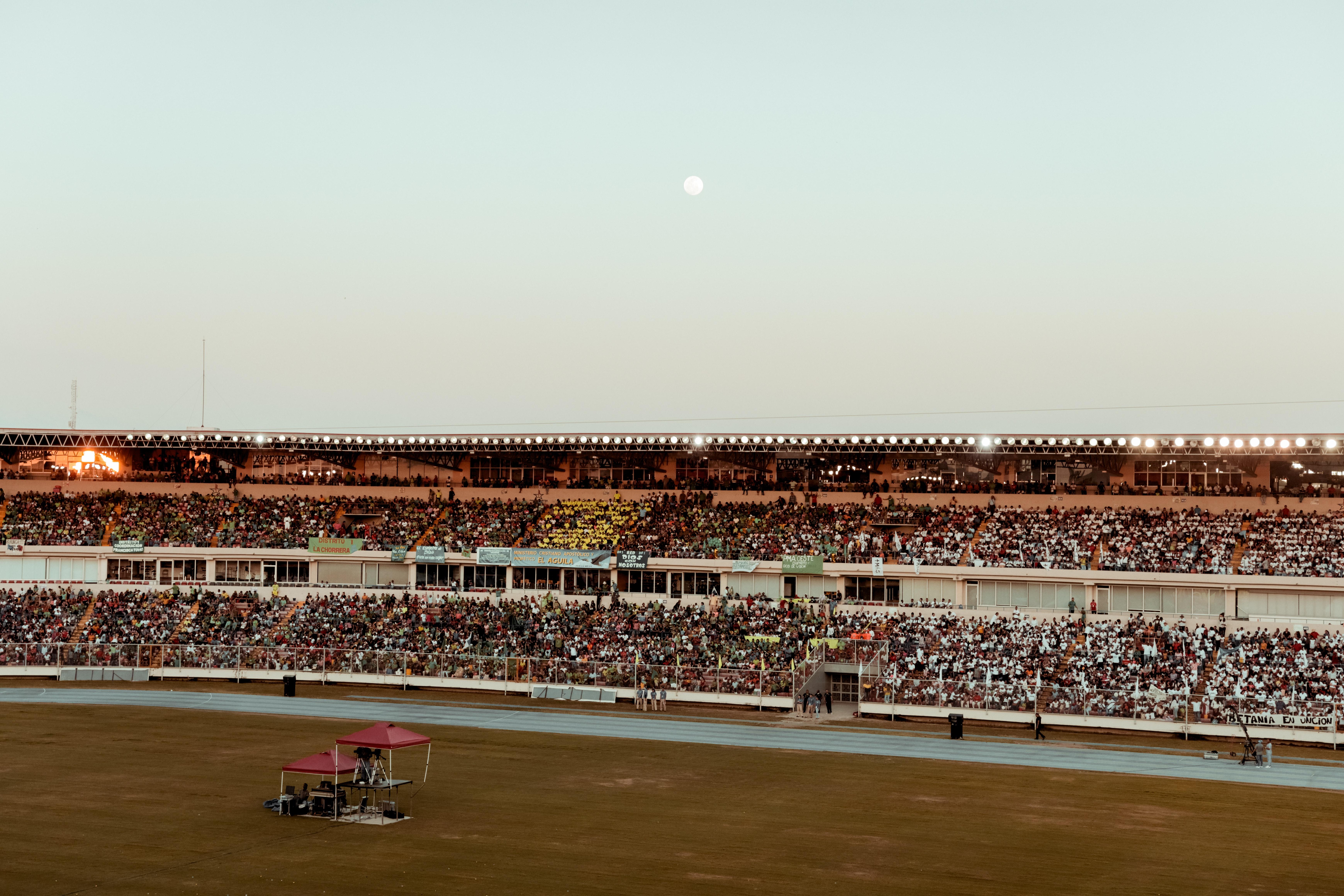 photo of stadium during dawn