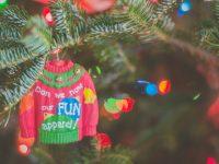 sweater christmas tree ornament